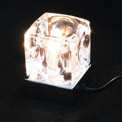 Ice cube touch lamp a fantastic feature during the day and striking light at night this ice cube table lamp has a touch sensitive chrome base so its easy to switch on and off mozeypictures Gallery