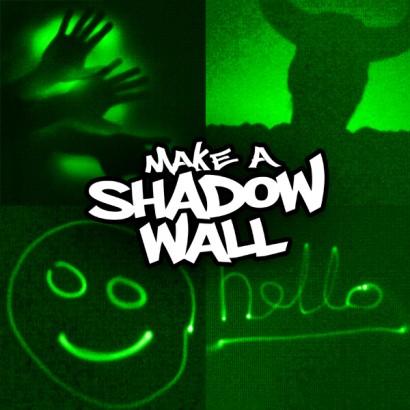Glow Graffiti Shadow Wall