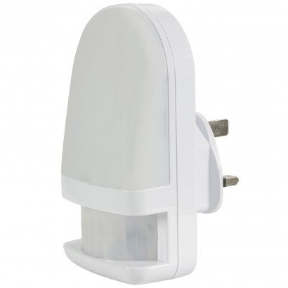 62fe0b2f0625 Lit by natural white LEDs, this plug in night light automatically switches  on when it senses movement. Read more.