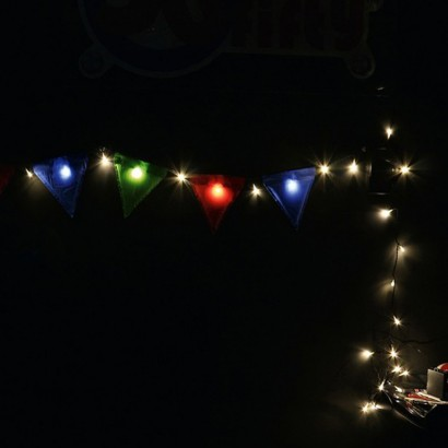Led Light Up Bunting Flags