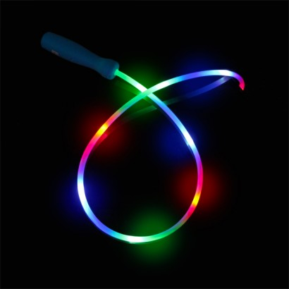 Light up multicoloured skipping rope light up skipping ropes are stuffed with led lights that light up the whole length of the rope read more aloadofball Choice Image