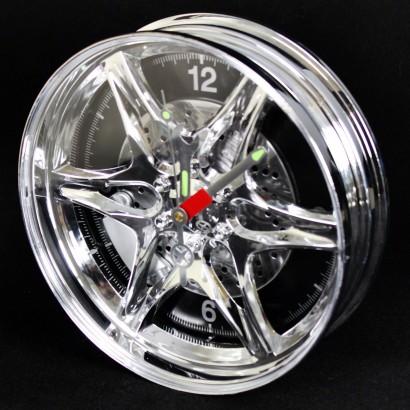 Neon Alloy Wheel Rim Clock