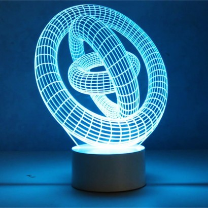 Optical Illusion 3d Gyro Mood Lamp