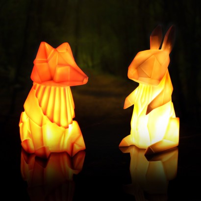 Origami Fox Amp Rabbit Lamps