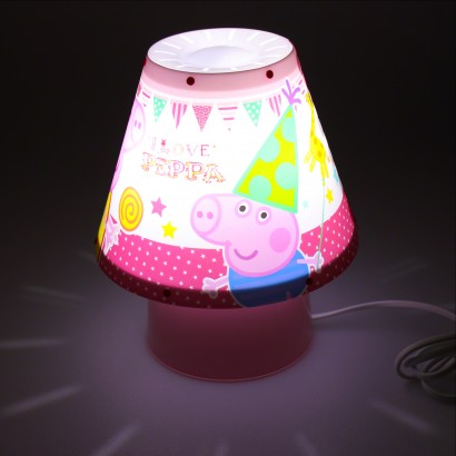 Peppa pig kool kids lamp peppa pig and her brother george are illuminated on this charming bedside lamp read more aloadofball Choice Image