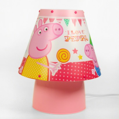 Peppa pig kool kids lamp peppa pig and her brother george are illuminated on this charming bedside lamp read more aloadofball Image collections