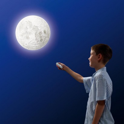 Remote Controlled Moon Wall Light