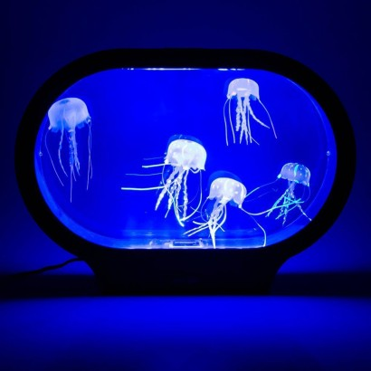See Realistic Neon Jellyfish Glide, Weave And Flow Around Their Colour  Change Tank For The Most Relaxing Of Mood Lights! Read More.