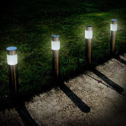 Solar Powered Multi Function Steel Post Lights