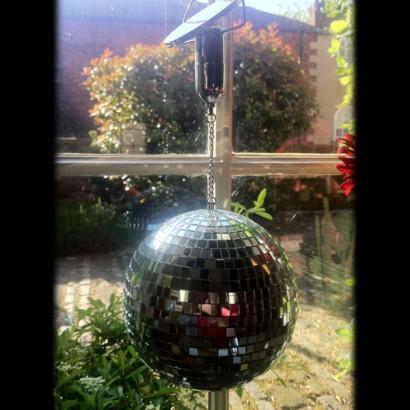 Solar Powered Disco Mirror Ball