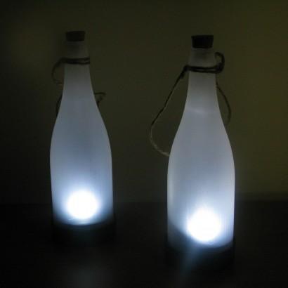White Led Solar Frosted Bottle Lights