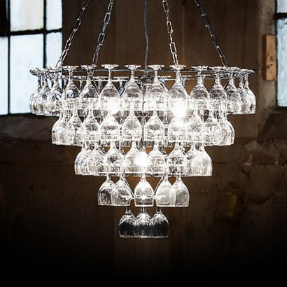 staggered light chandelier west c glass elm products