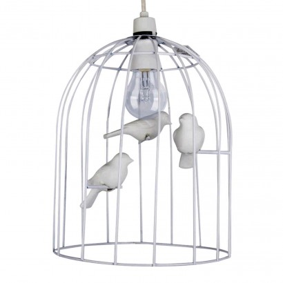 White birdcage pendant lampshade adorably quirky the white birdcage lampshade brings beautiful vintage styling to your home read more mozeypictures Image collections