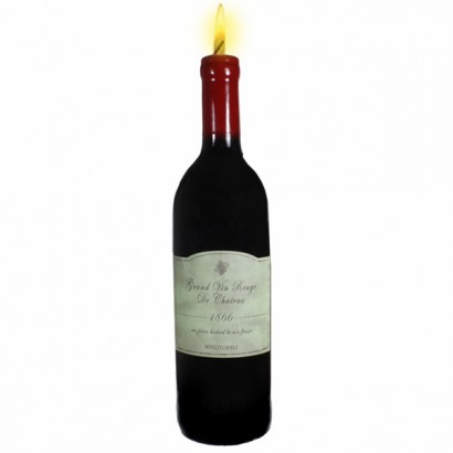 Realistic Red Wine Bottle Candle