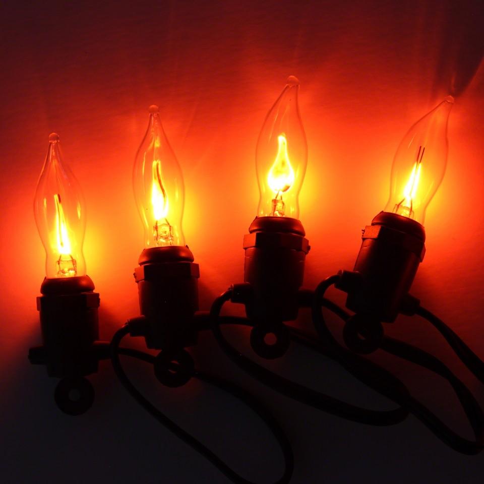 10 Flicker Bulb Fairy Lights