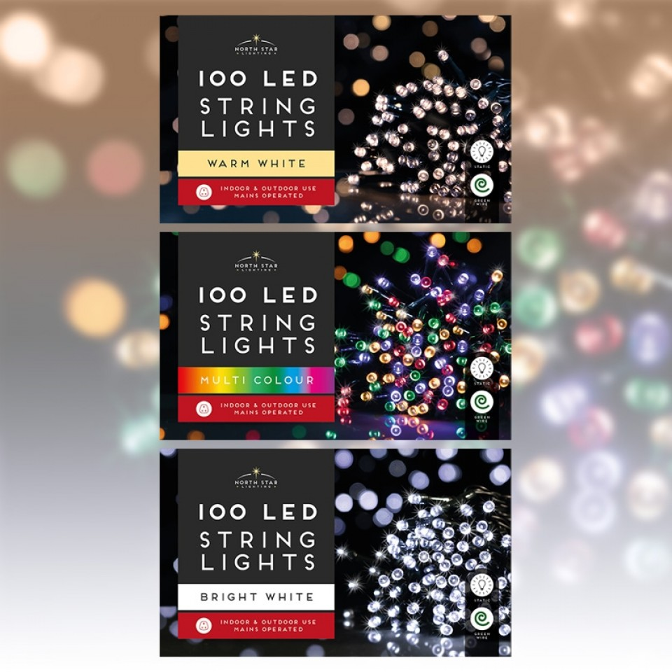 100 Led Mains Operated Lights
