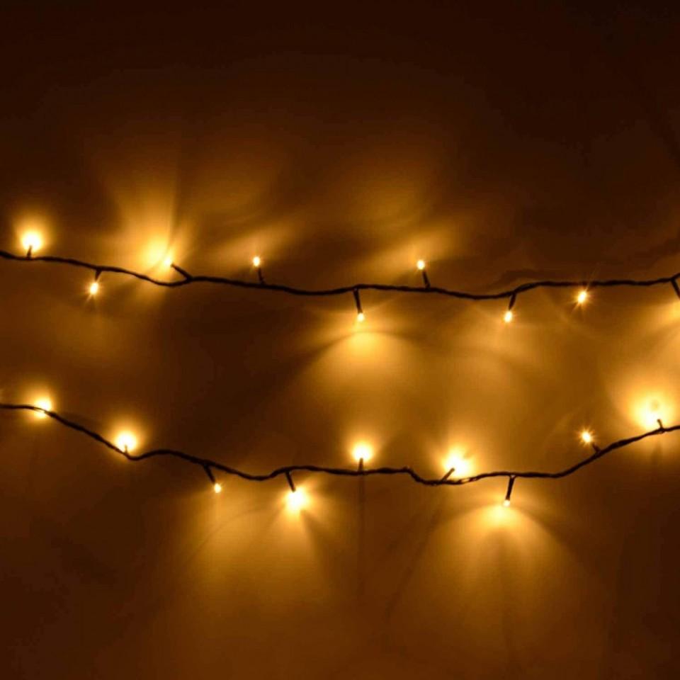 100 Warm White Chaser Lights