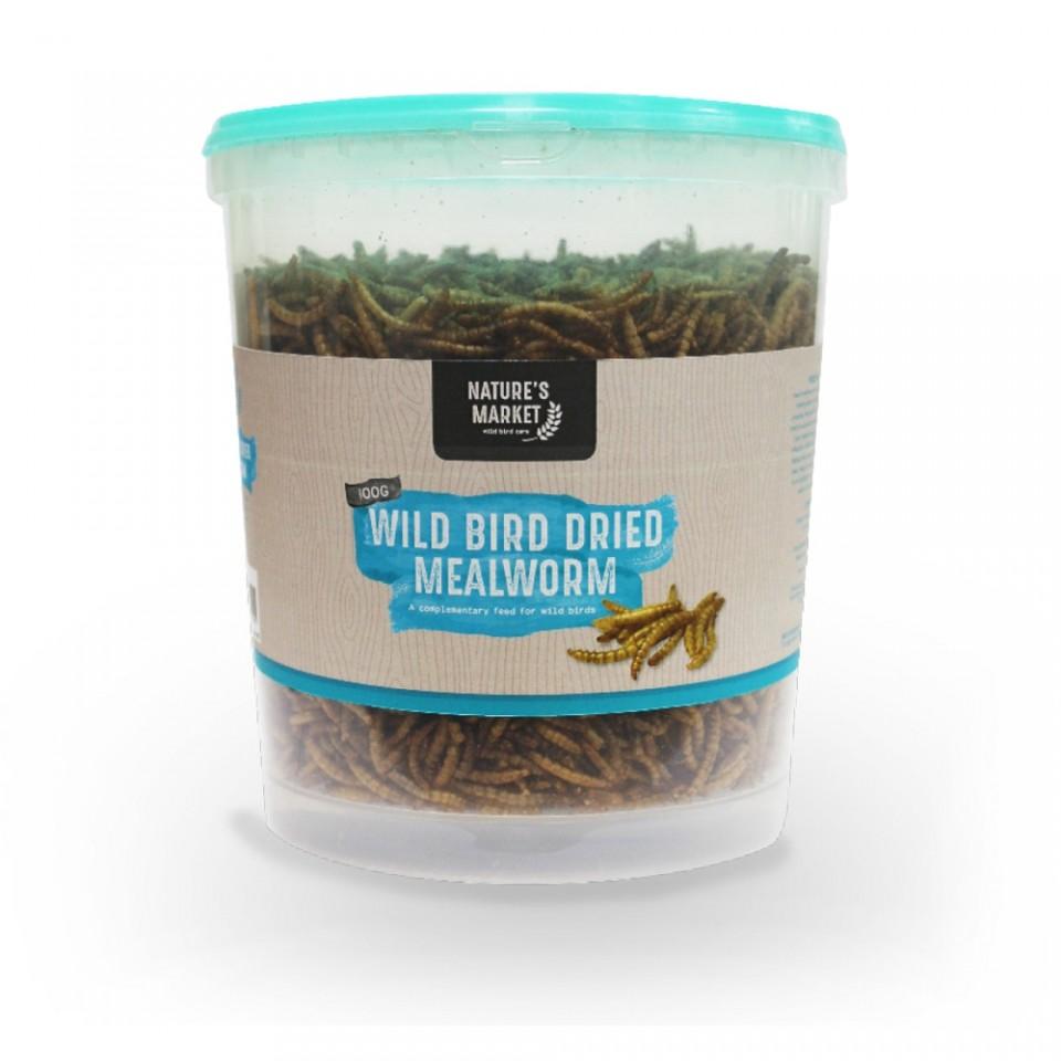 100g Tub Dried Mealworm Wild Bird Feed