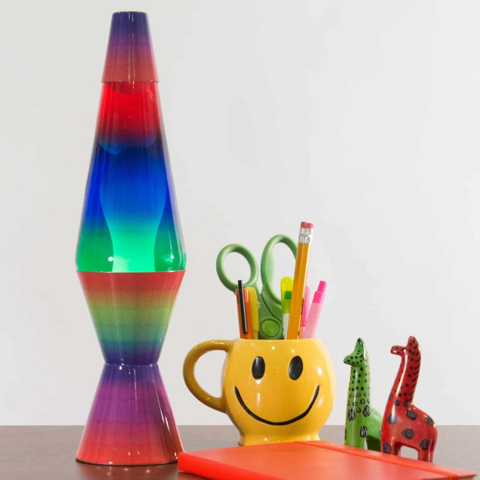 "14.5"" Colourmax Rainbow Lava Lamp"