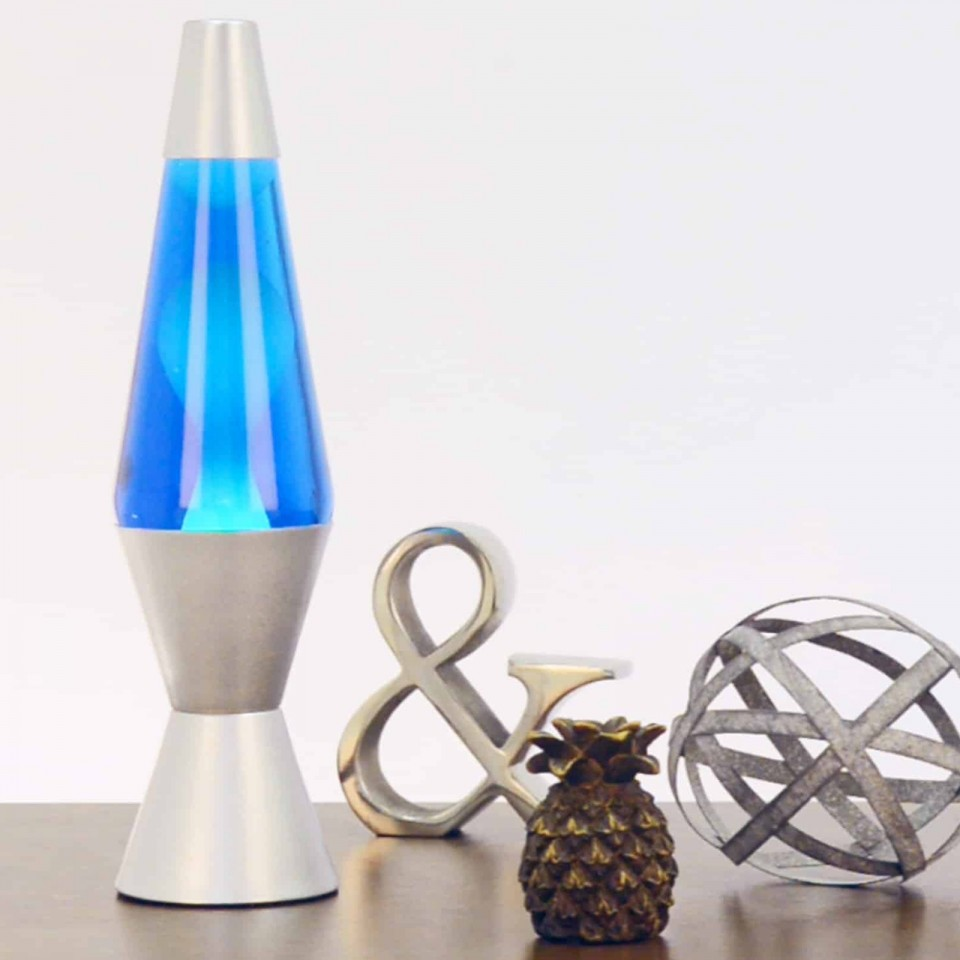 "14.5"" LAVA Brand Lava Lamp White/Blue"