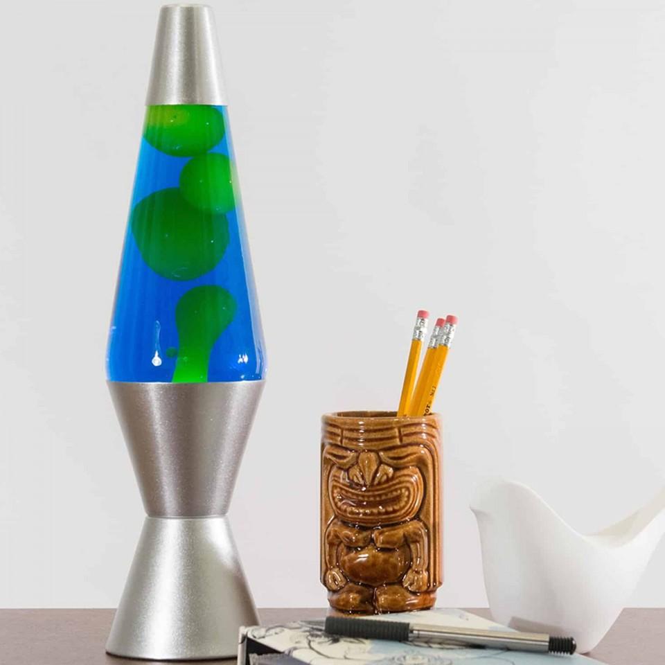 "14.5"" LAVA Brand Lava Lamp Yellow/Blue"