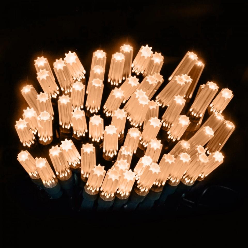 15m Star Cap Fairy Lights Warm White
