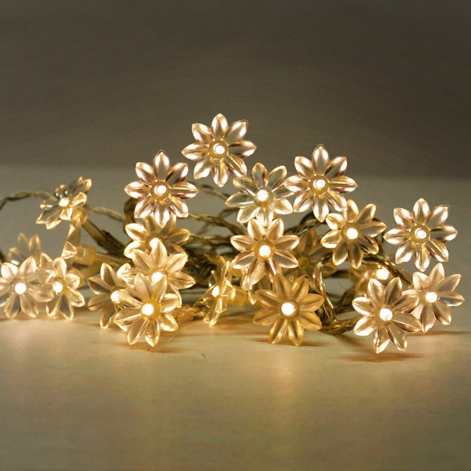 20 LED Sunflowers Warm White (16541)