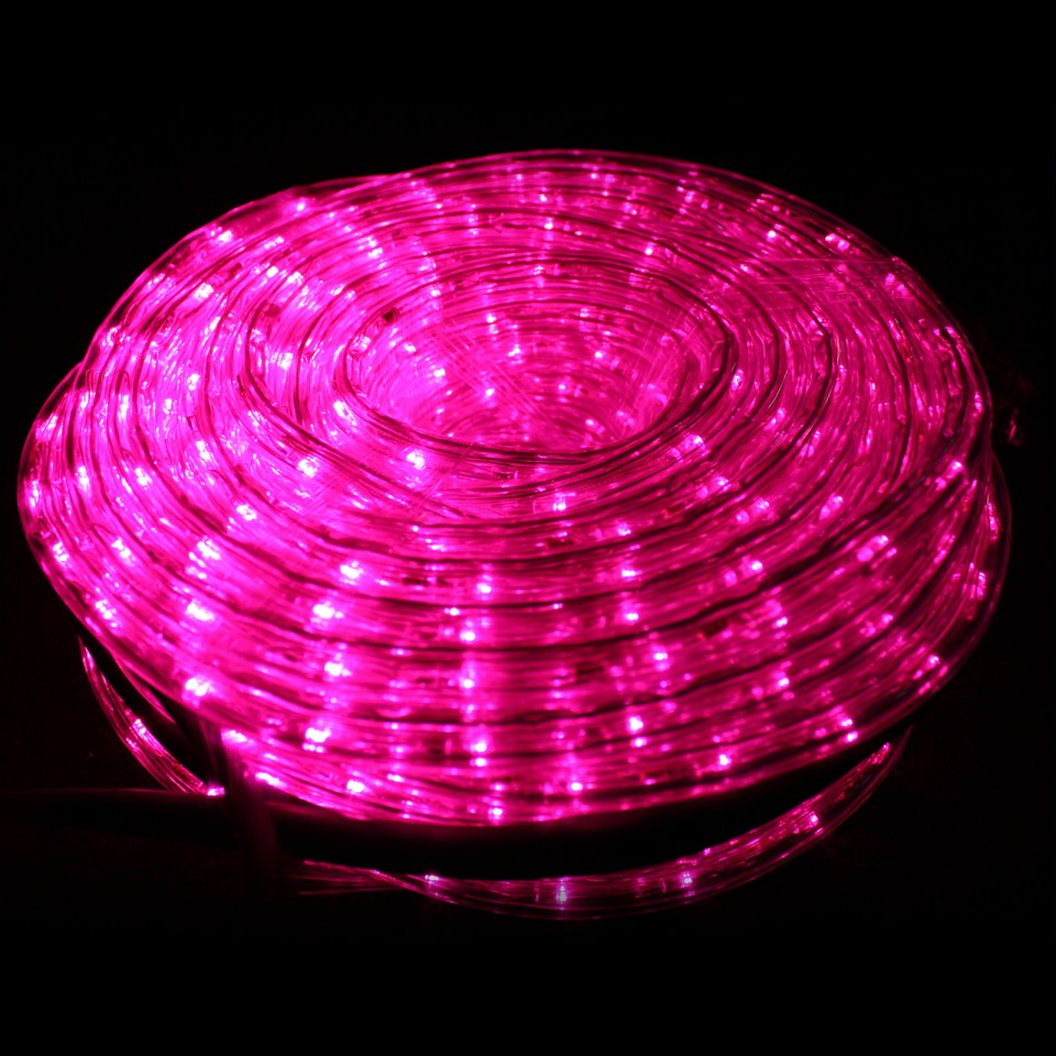 Pink 20m LED Rope Light