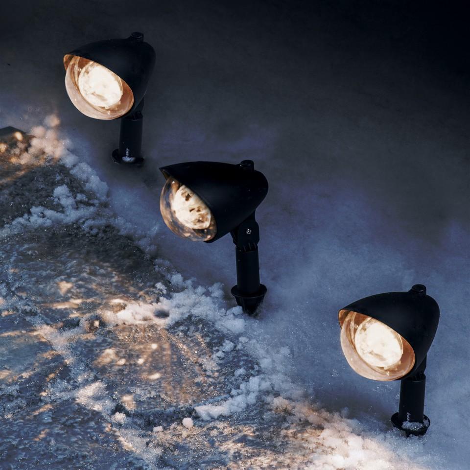 Warm White 3 LED Kaleidoscope Path Lights