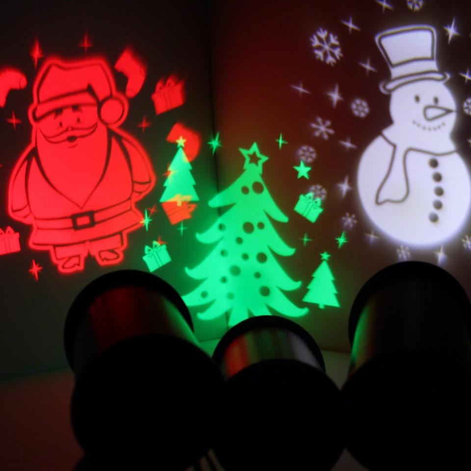 3 Piece Outdoor LED Xmas Projector