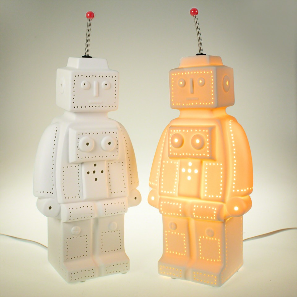 3D Ceramic Lamp Robot