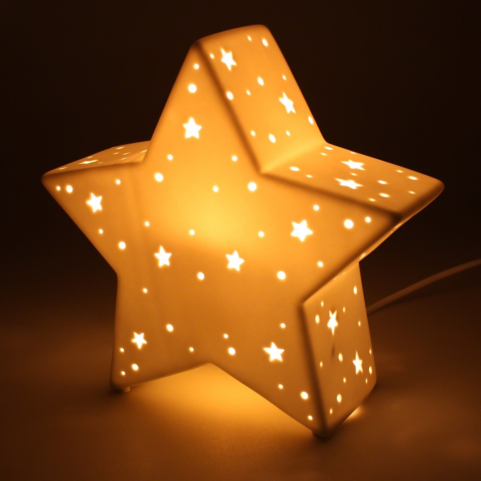3D Ceramic Lamp Star