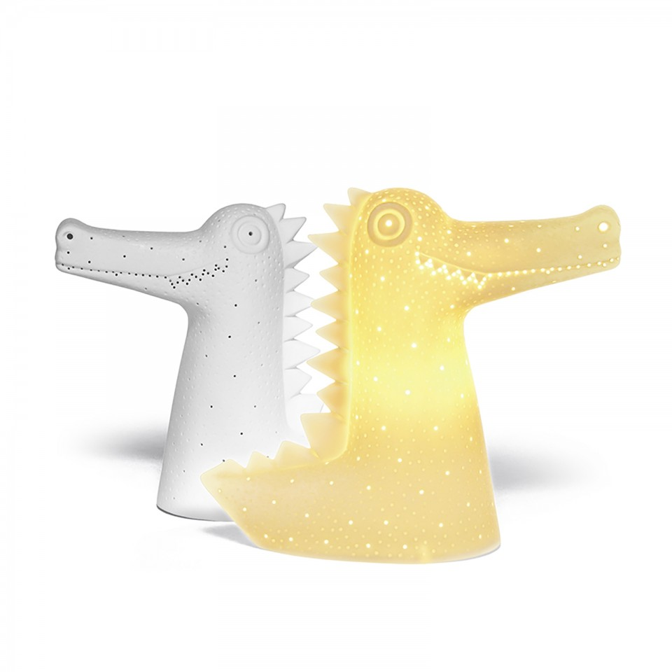 3D Ceramic Lamp Crocodile