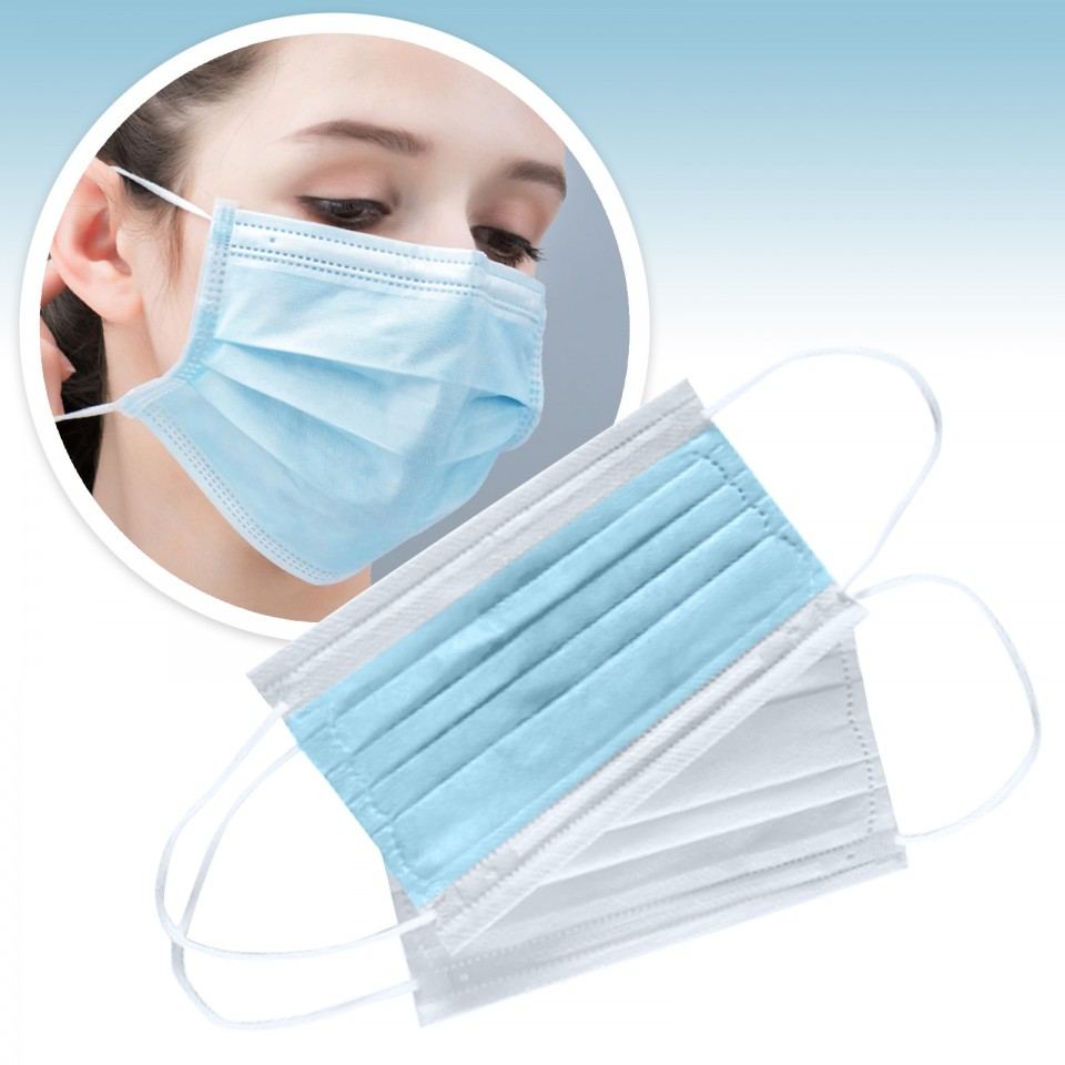 3 Ply Standard Medical Face Masks (10 pack)