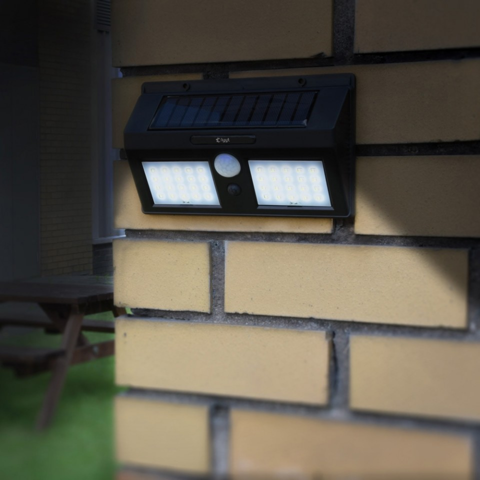40 LED Solar Security Light with Motion Sensor