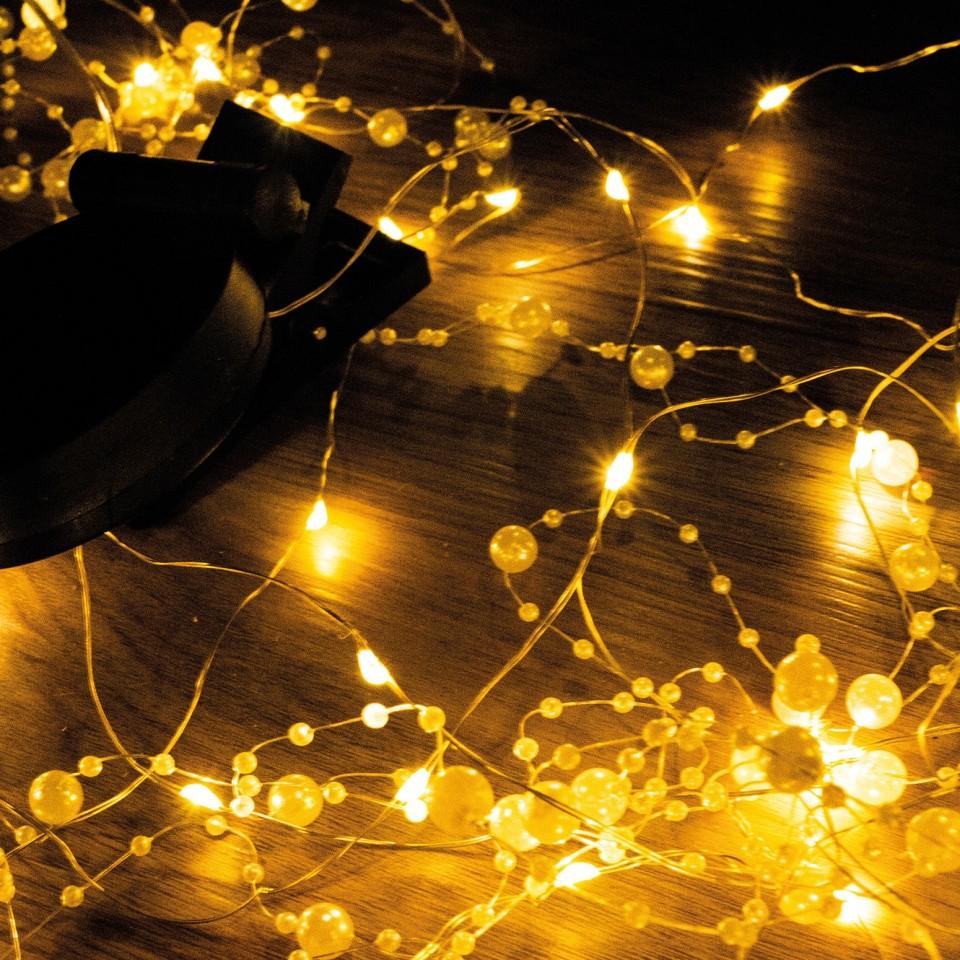50 LED Solar Romantic Pearl String Lights