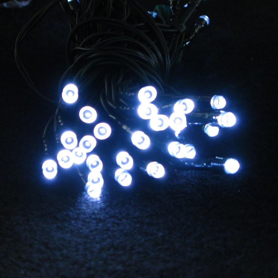 50 LED White Solar Lights