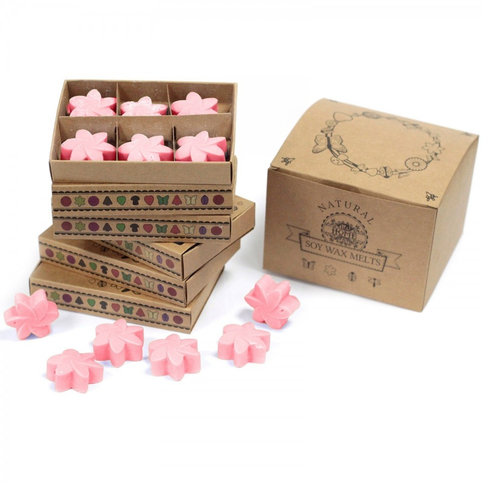 Classic Rose Soy Wax Flower Melts (6 pack)