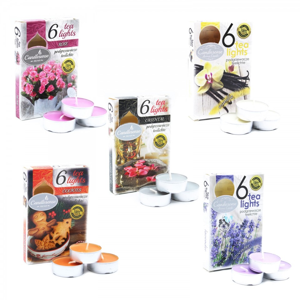 Scented Tealight Candles (6 pack)