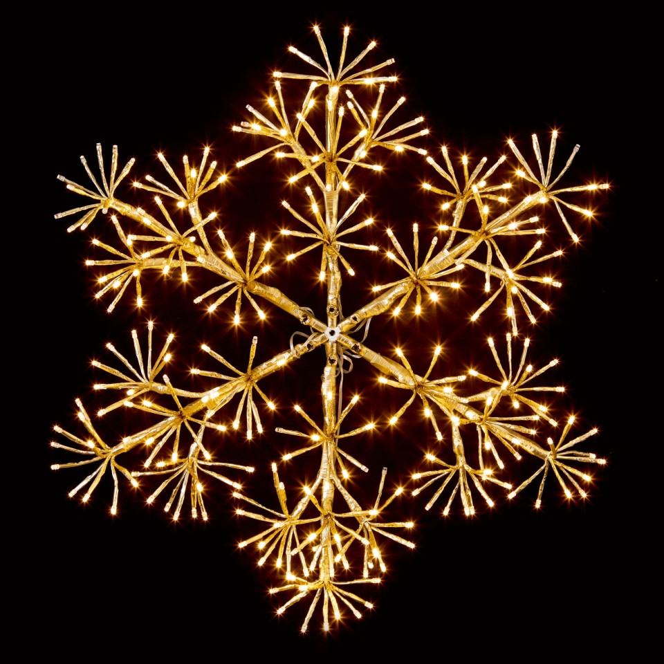 60cm Gold Starburst Snowflake Decoration