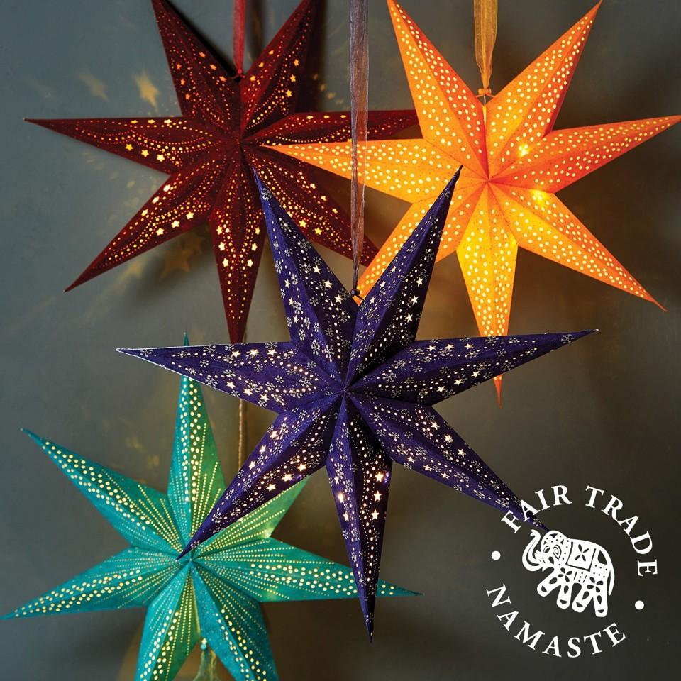 60cm Velvet 10 LED Star