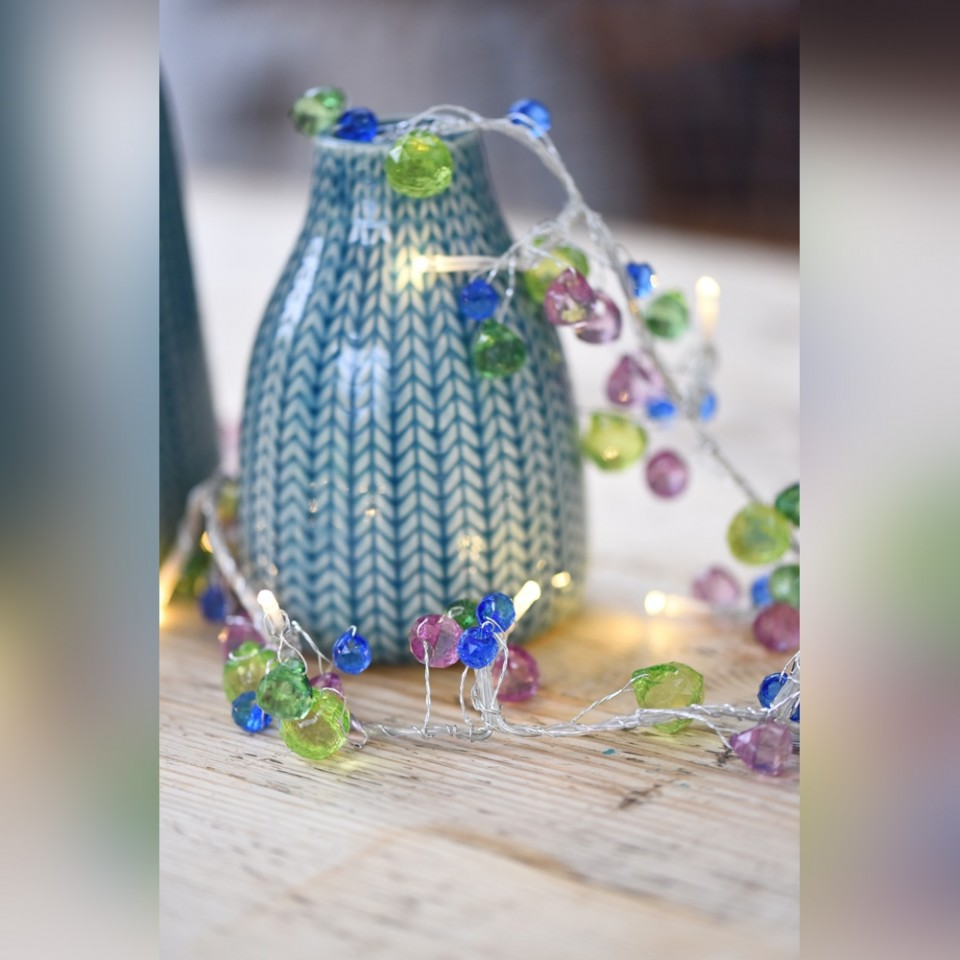 Aqua Crystal Chic Battery Operated Fairy Lights
