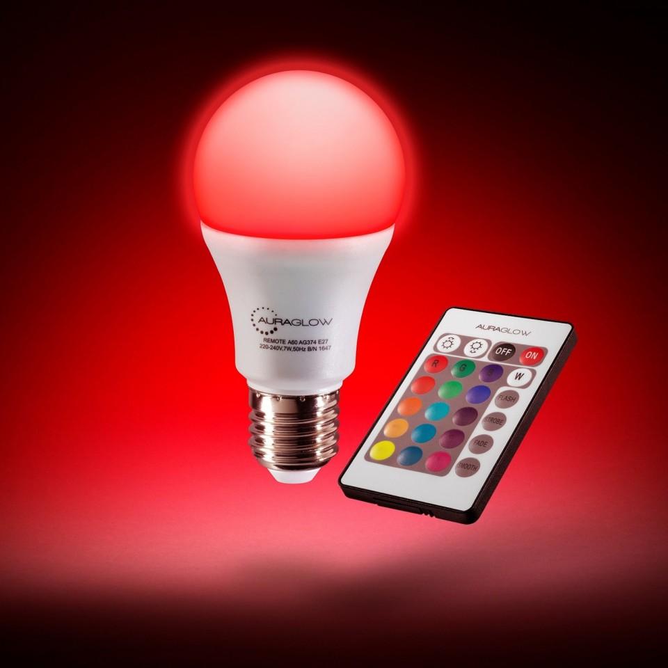 Auraglow R/C Colour Changing Bulb