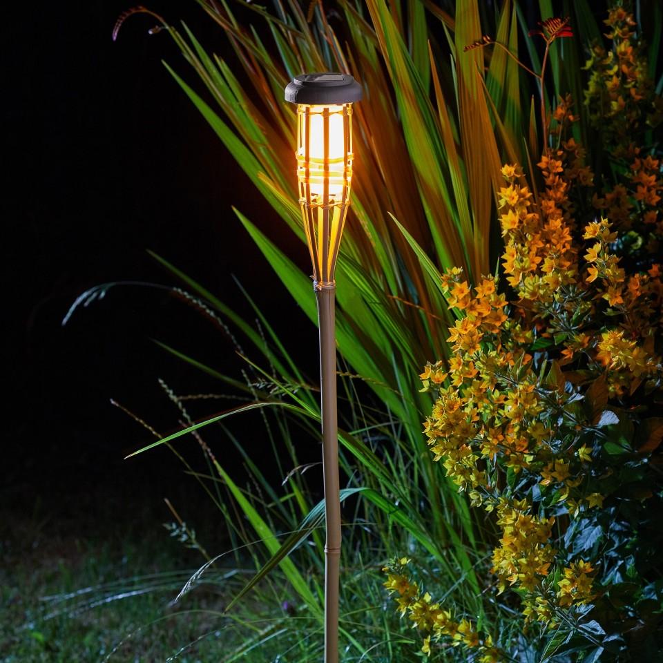 Solar Flaming Bamboo Torch x 3