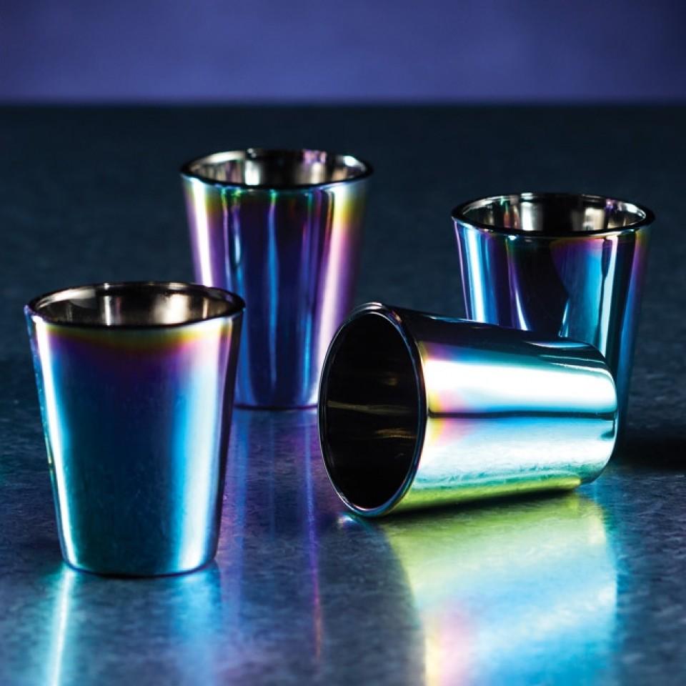 Metallic Rainbow Shot Glass Set