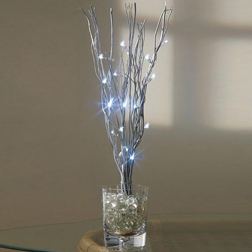 Silver twigs Battery Twig Light