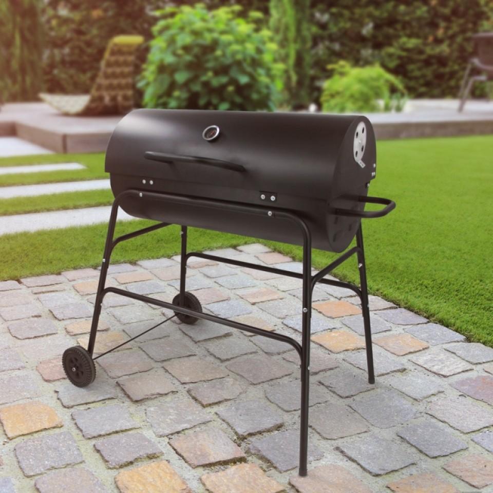Drum Barrel Charcoal BBQ Barbeque