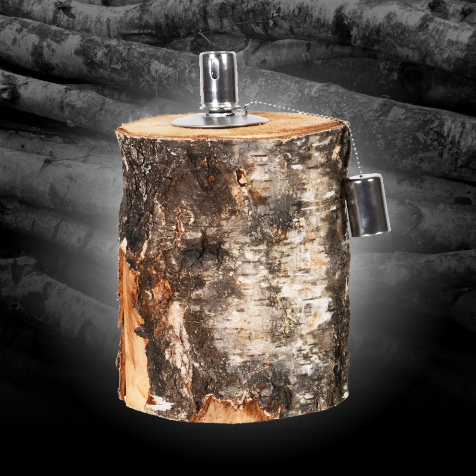 Birch Log Oil Lamp FF418