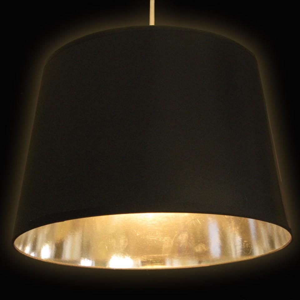 Black & Chrome Lamp Shade (17858)