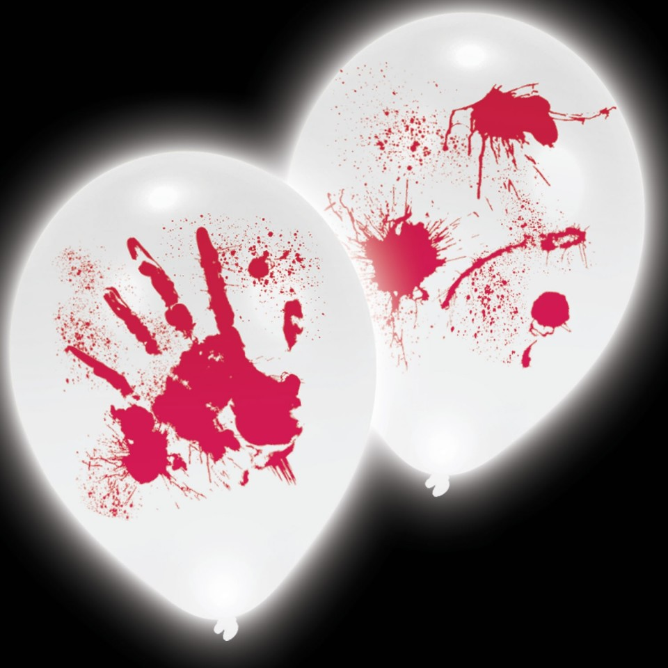 Bloody Hands LED Balloons (4 pack)